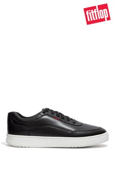 FitFlop Black Men's Rally X Leather Trainers