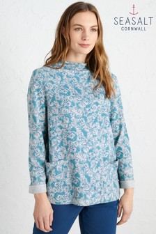 Seasalt Blue Oceangoing Sweatshirt