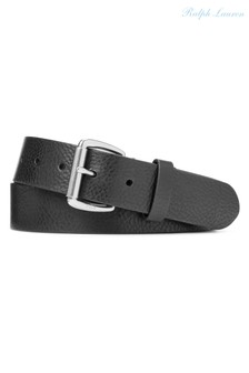 Polo Ralph Lauren Black Vegan Leather Casual Belt