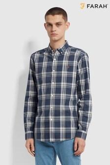 Farah Blue Steen Check Long Sleeve Shirt