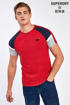 Superdry Red Baseball T-Shirt