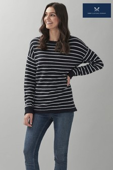 Crew Clothing Company Blue Stella Stripe Jumper