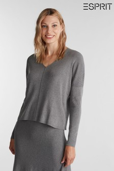Esprit Grey Long Sleeve Blouse