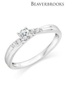 Beaverbrooks 9ct White Gold Diamond Solitaire Ring