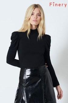 Finery London Black Lexi Long Sleeve T-Shirt