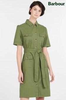 Barbour® Heritage Khaki Utility Victoria Shirt Dress