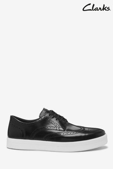 Clarks Black Leather Hero Limit Shoes