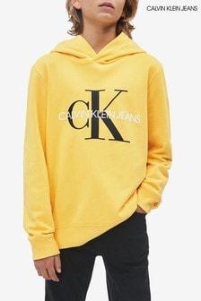 Calvin Klein Yellow Jeans Monogram Logo Hoody
