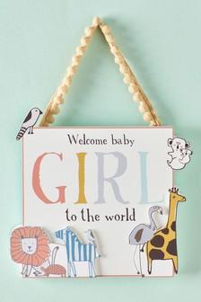 Baby Girl Hanging Decoration