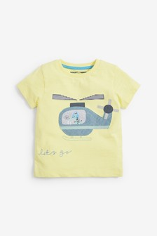 Short Sleeve Helicopter Appliqué T-Shirt (3mths-7yrs)