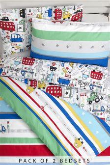2 Pack Beep Beep Bed Set
