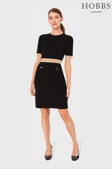 Hobbs Black Aria Knitted Dress
