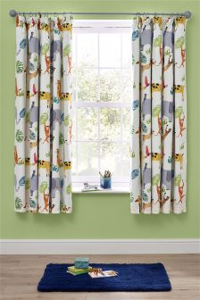 Jungle Blackout Pencil Pleat Curtains