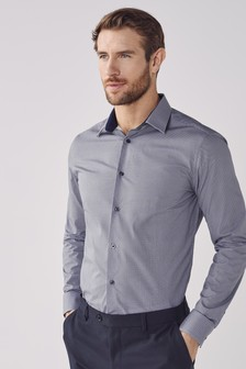 Slim Fit Printed Shirt With Paisley Pattern Pocket Square Set