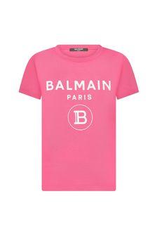 Balmain Boys Cotton T-Shirt