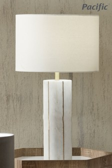 Venetia Marble And Gold Metal Tall Table Lamp by Pacific Lifestyle