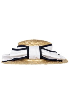 Patachou Girls White Cotton Hat