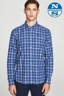 North Sails Blue Button Down Regular Fit Long Sleeve Shirt
