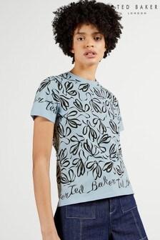 Ted Baker Blue Modana Bow Printed T-Shirt