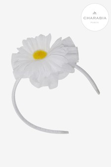 Charabia White Daisy Hairband