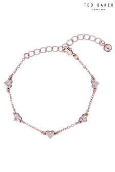 Ted Baker Metallic Neleaha Nano Heart Charm Bracelet