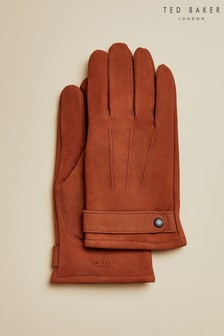 Ted Baker Tan Shaker Nubuck Leather Gloves