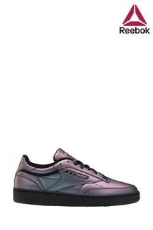 Reebok Purple Metallic Club C Trainers