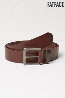 FatFace Brown Italian Leather Belt