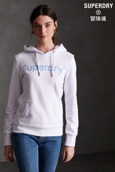 Superdry Regular Flock Loopback Hoody