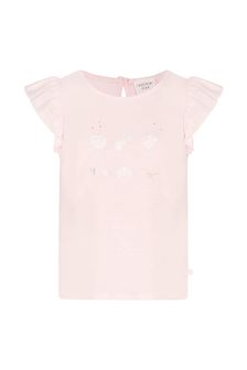 Carrement Beau Girls Pink Cotton Blend T-Shirt