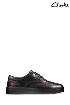 Clarks Black Hero Brogue Shoes
