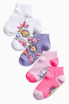 Slogan Socks Five Pack (Older)