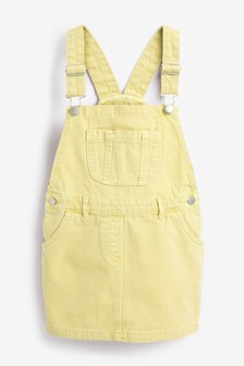 Coloured Denim Pinafore (3-16yrs)