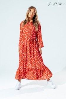Hype. Womens Brown Brick Spots Dress