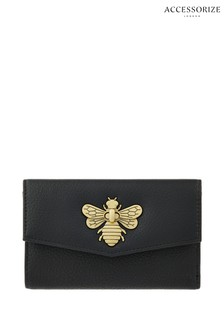 Accessorize Black Britney Bee Wallet
