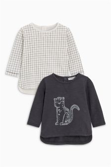 Grid T-Shirts Two Pack (0mths-2yrs)