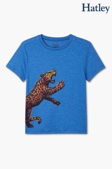 Hatley Blue Ferocious Leopard Graphic T-Shirt