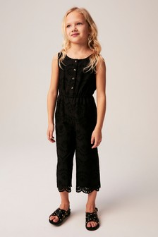 Broderie Jumpsuit (3-16yrs)