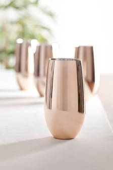Rosa Metallic Set of 4 Tall Tumbler Glasses