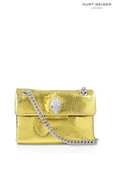 Kurt Geiger London Yellow Mini Kensington Cross Body Bag