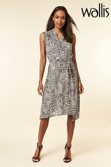 Wallis Animal Button Through Shirt Dress