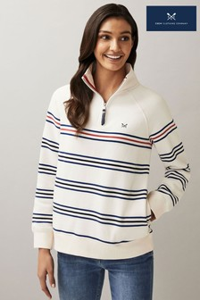 Crew Clothing Blue Half Zip Sweatshirt