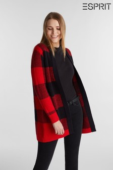 Esprit Red Sweatshirt Cardigan