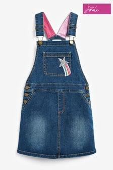 Niebieska jeansowa ogrodniczkowa sukienka Kimberly Joules