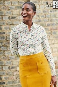 Boden Cream Modern Classic Shirt