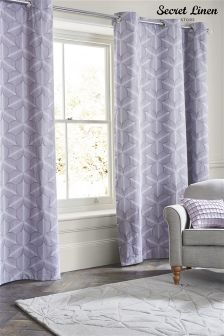 Secret Linen Store Feathers Eyelet Curtains