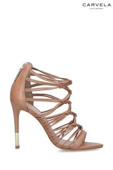 Carvela Camel Gila Heeled Sandals