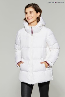 Tommy Hilfiger White Amber Down Jacket