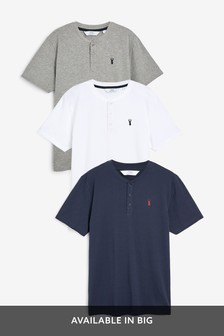 Logo Grandad T-Shirts Three Pack