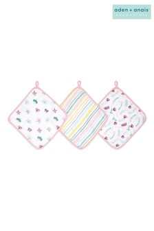 aden + anais Essentials Floral Fauna Washcloth Set Three Pack